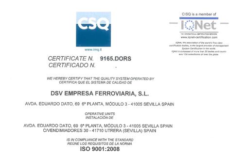 9165 CSQ ISO 9001-2008 DSV