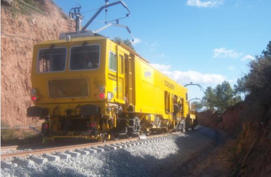 bateo en la Renovación de vía línea Madrid-Hendaya